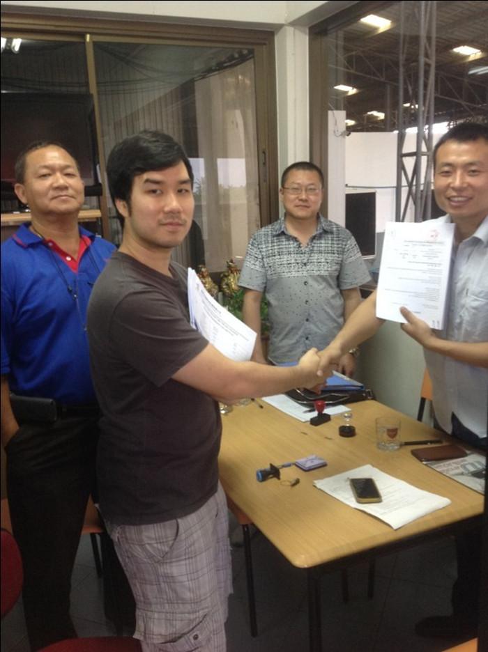企鹅与泰国客户签订300吨米糠膨化
