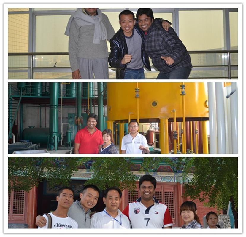 印度客户来中国考察及到企鹅参观